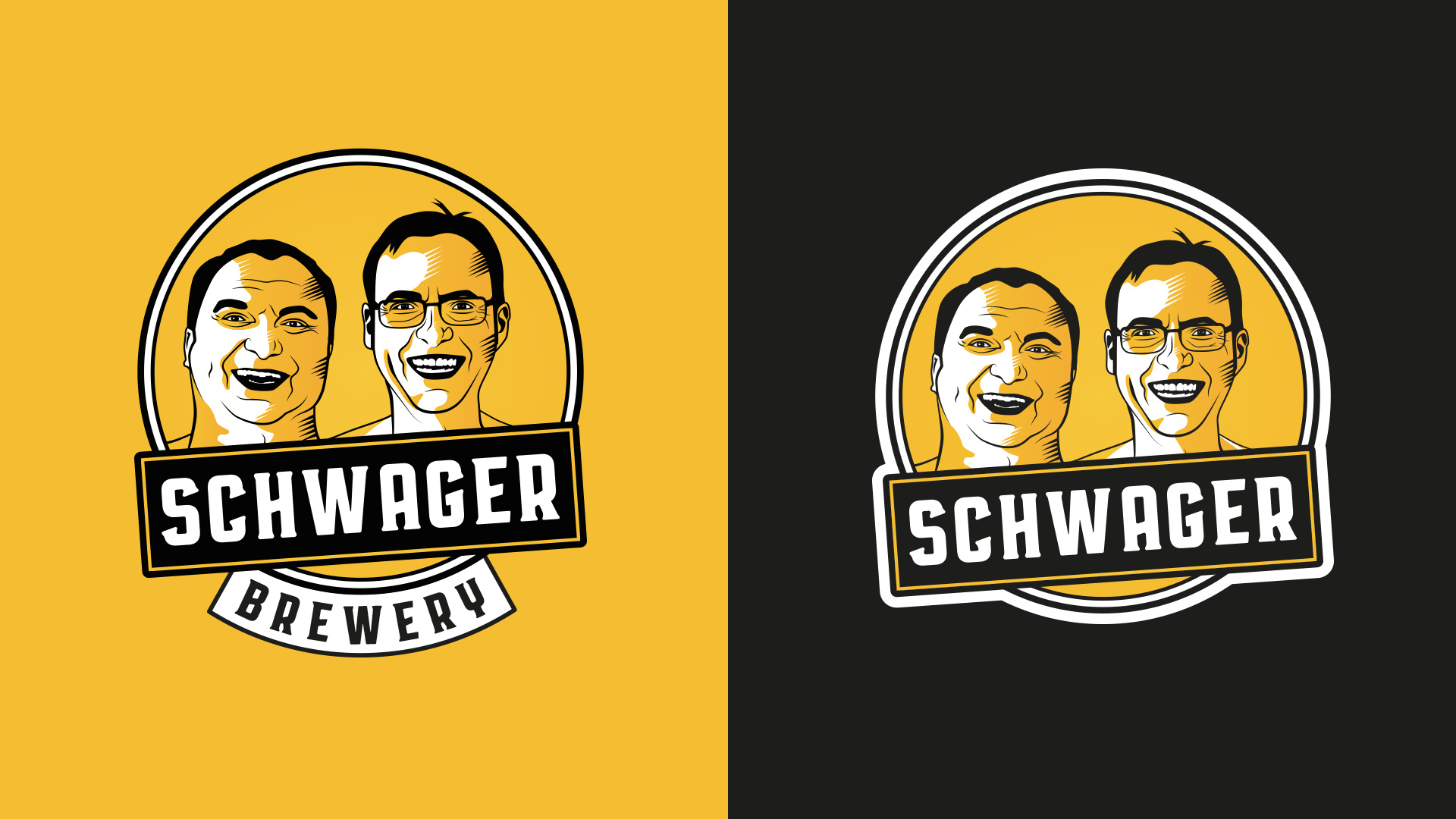 Craft beer company logo Schwager