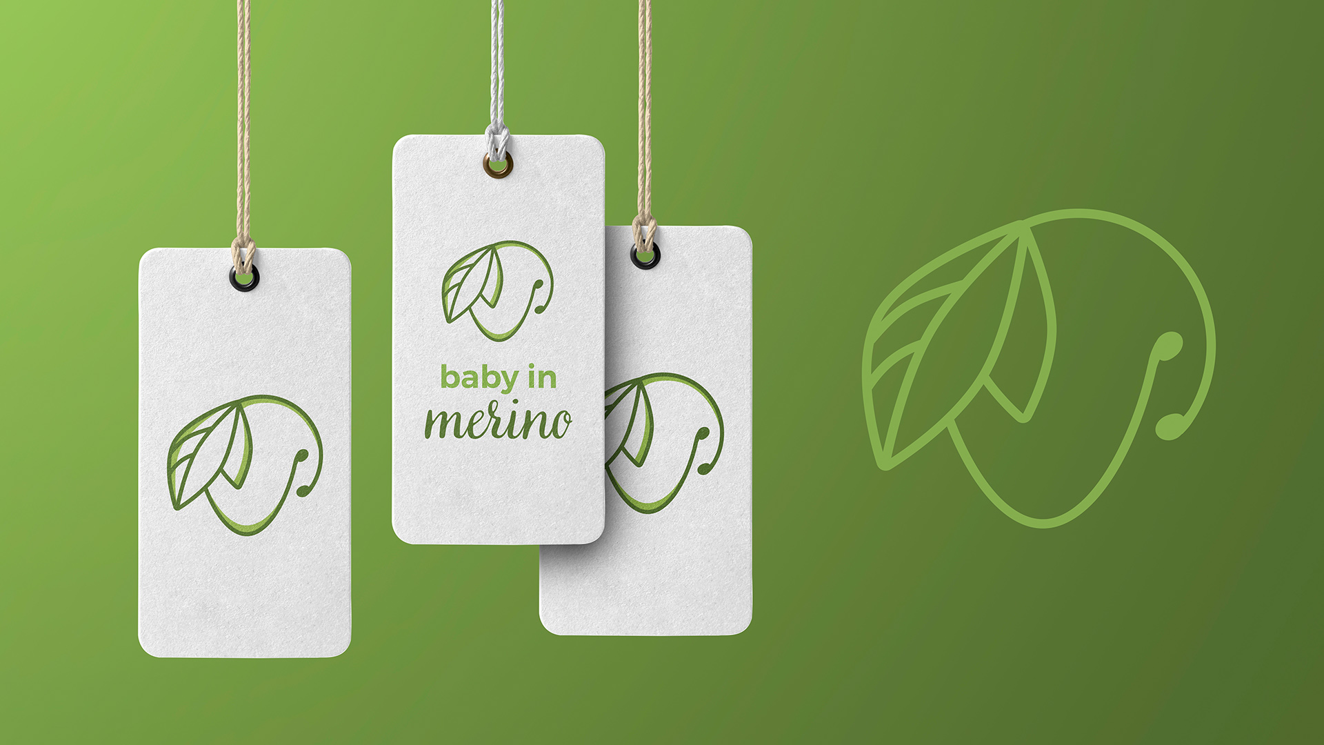 minimalistic logo for baby clothing brand