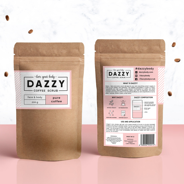 Dazzy branding and packaging